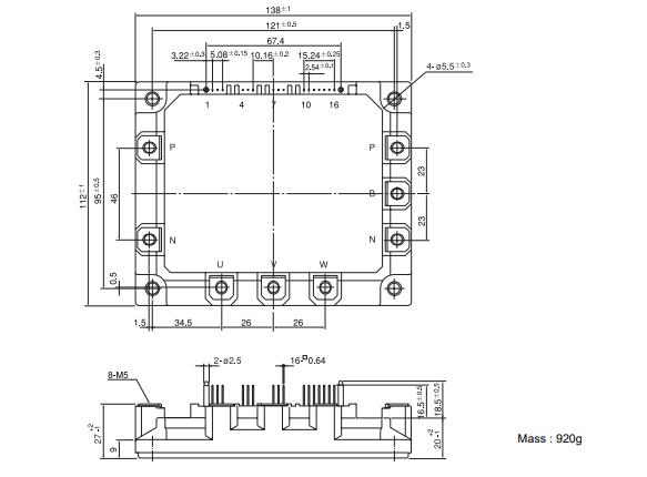طرح کلی آی جی بی تی 7MBP150RA-120