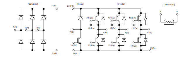 شماتیک آی جی بی تی 7MBR15SA120