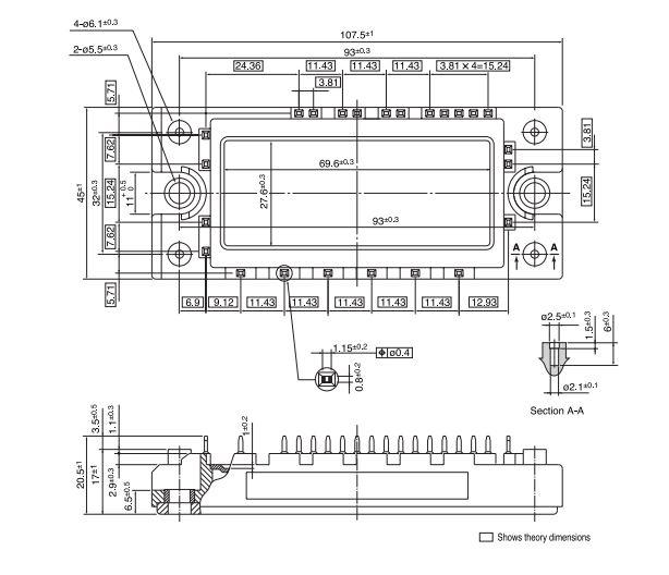 طرح کلی آی جی بی تی 7MBR25SA120