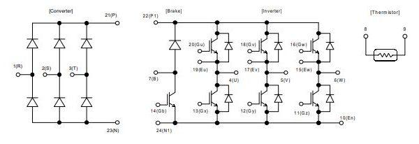 شماتیک آی جی بی تی 7MBR25SA120