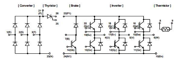شماتیک آی جی بی تی 7MBR35SD120-50