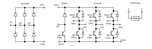 شماتیک آی جی بی تی 7MBR35UA120