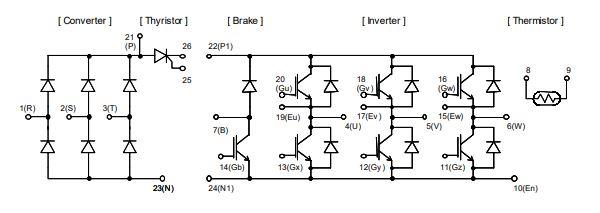 شماتیک آی جی بی تی 7MBR50SD120