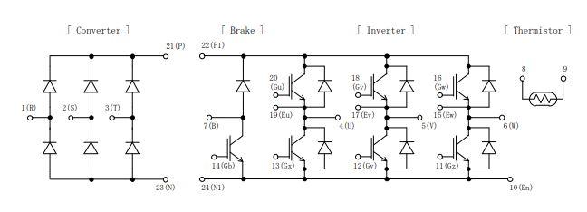 شماتیک آی جی بی تی 7MBR75U4B120
