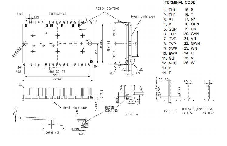 طرح کلی آی جی بی تی CP25TD1-24A