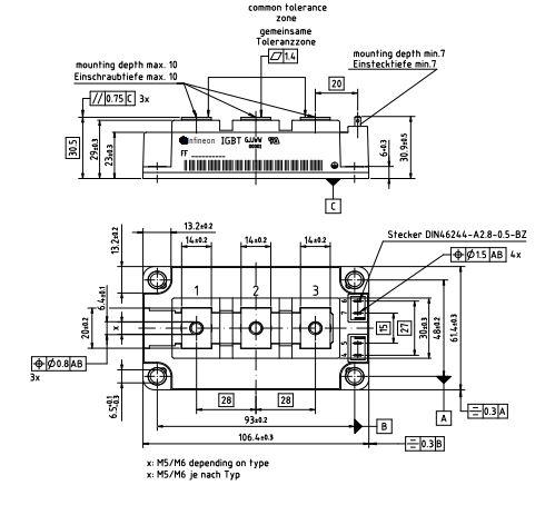طرح کلی آی جی بی تی FF450R12KT4