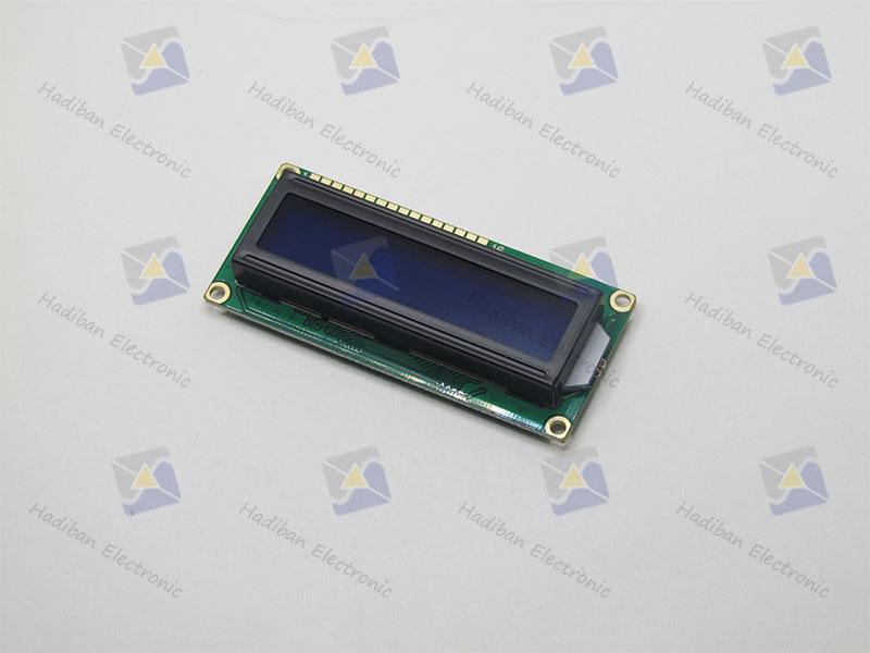 ال سی دی کاراکتری 2*16 آبی با پارت نامبر HBC1602-BTM