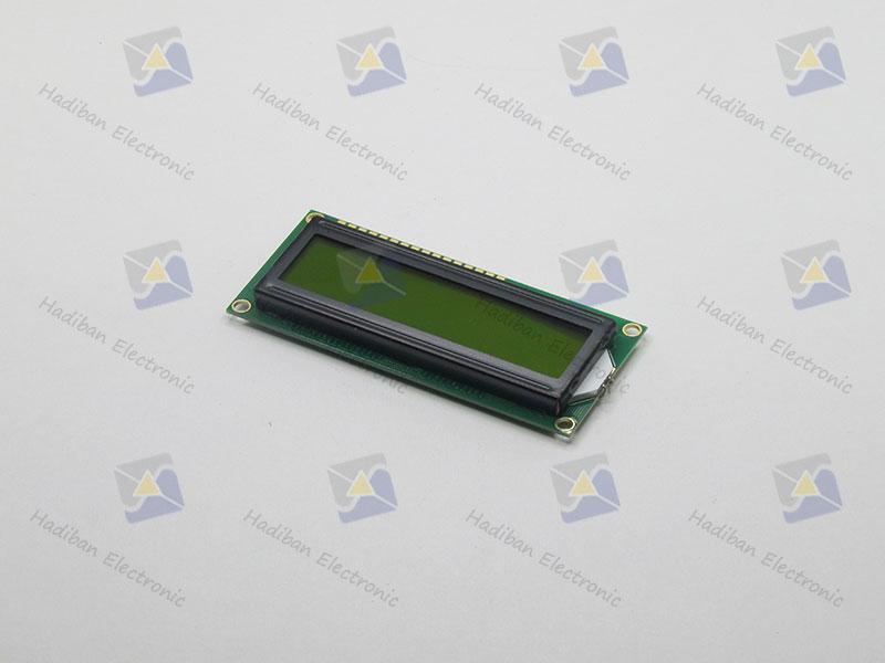 ال سی دی کاراکتری 2*16 سبز با پارت نامبر HBC1602-BYY
