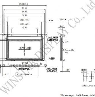 طرح کلی ال سی دی WEO012864JLPP3N00000