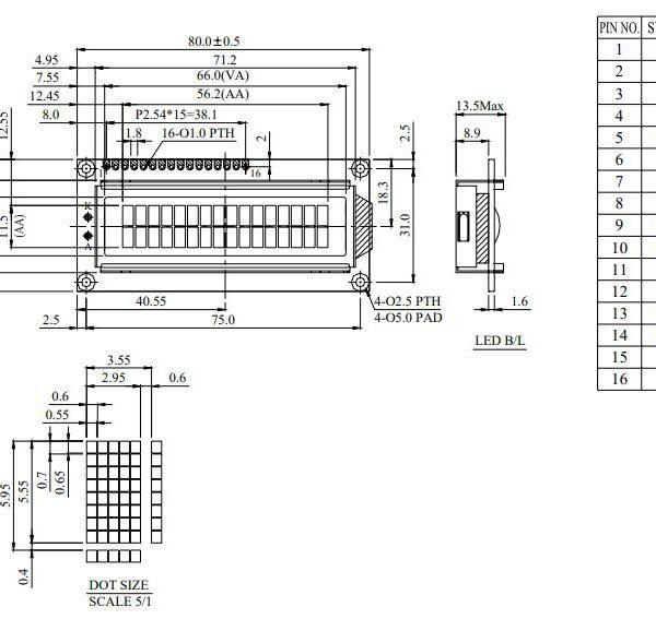 شماتیک ال سی دی WH1602B-TMI-JT#