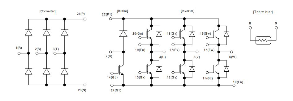 طرح کلی آی جی بی تی 7MBR50SB120