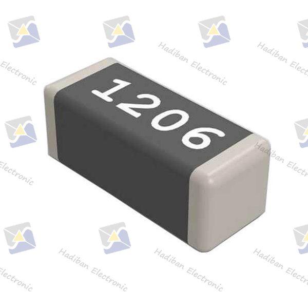 مقاومت 0 اهم SMD کد 1206 با خطای 5 درصد