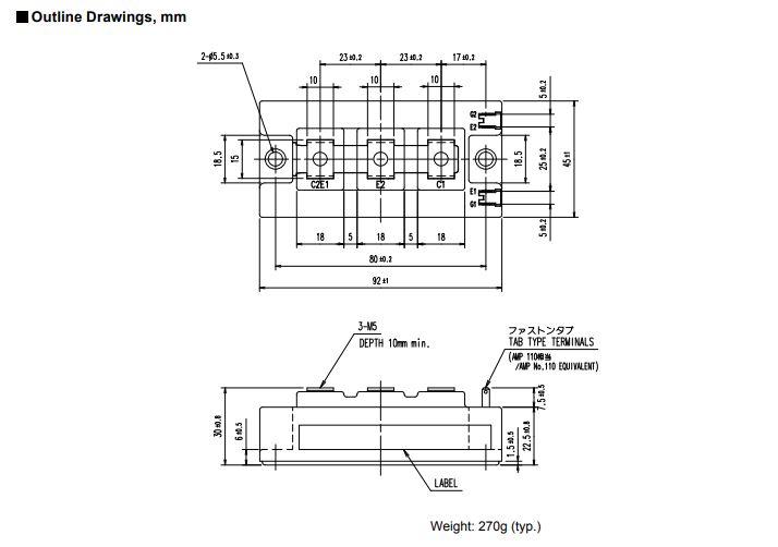 شماتیک 2MBI150VB-120-50