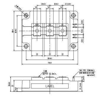 طرح کلی آی جی بی تی 2MBI300VE-120-50