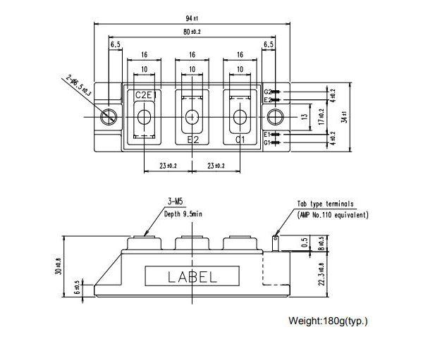طرح کلی آی جی بی تی 2MBI75VA-120-50