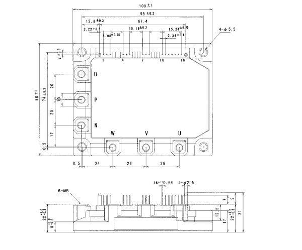 طرح کلی آی جی بی تی 7MBP75RA120