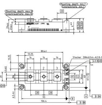 FF450R12Ke4-outline drawing
