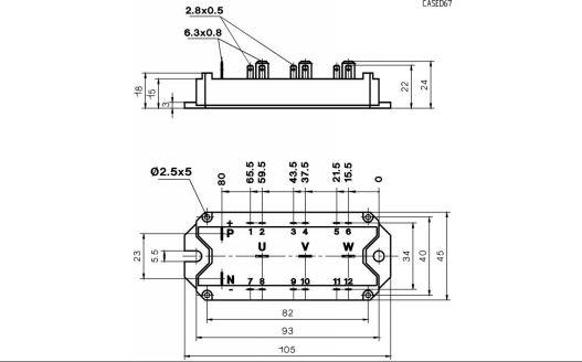 طرح کلی آی جی بی تی SKM40GD123D