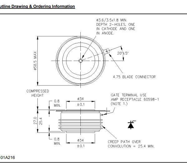 تریستور دیسکی N1265LC160