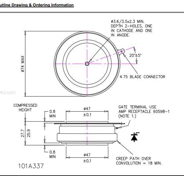 تریستور دیسکی N1718NS260