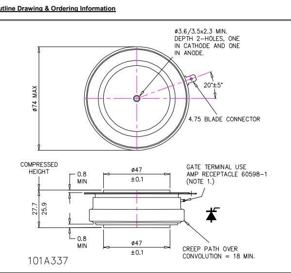 تریستور دیسکی N1802ns160