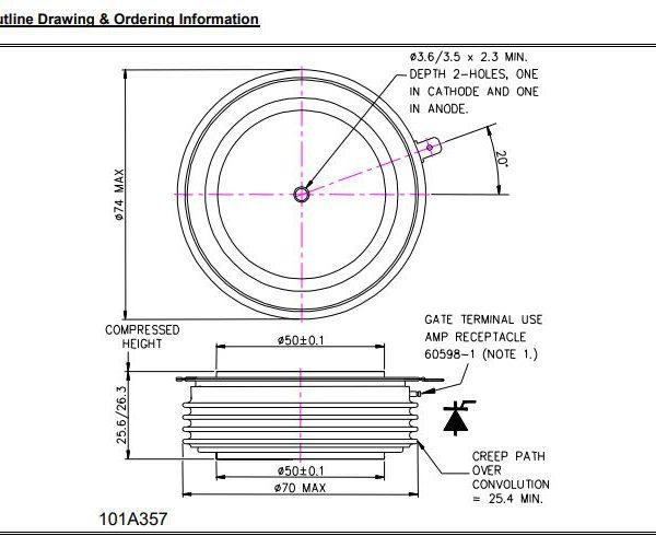 تریستور دیسکی N2055MC280
