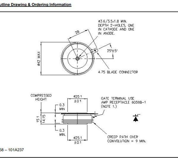 تریستور دیسکی R0633YS120