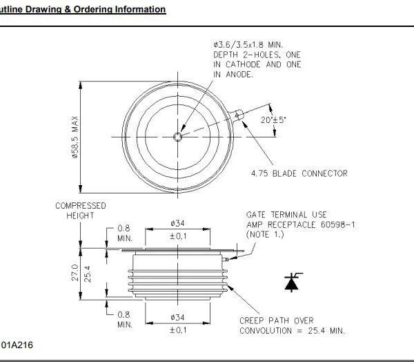 تریستور دیسکی R0929LC12B