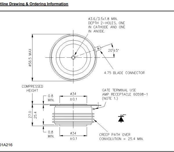 تریستور دیسکی R0929LC12C
