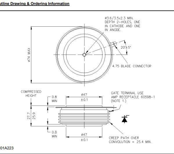 تریستور دیسکی R1446ns12c