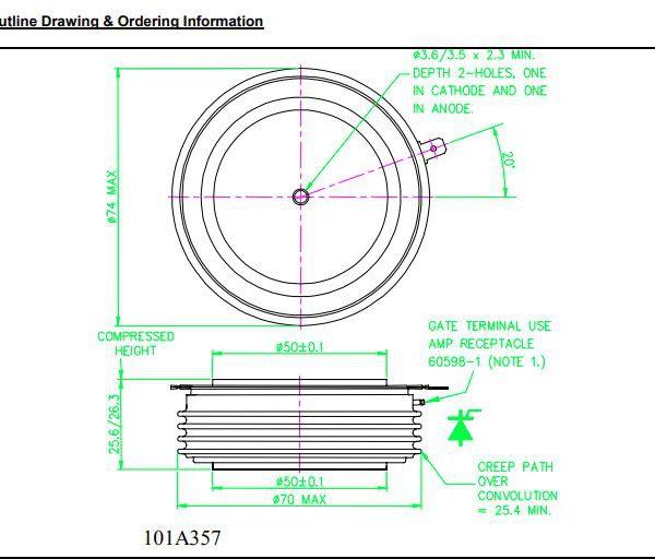 تریستور دیسکی R2075MC12A