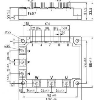7MBI50N-120-outline drawing